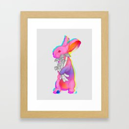 Psilocybin Rabbit Framed Art Print