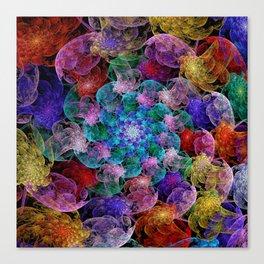 Floral Spiral Canvas Print