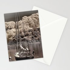 Boat Harbor in Newport Stationery Cards