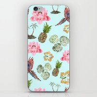 hawaiian iPhone & iPod Skins featuring Hawaiian by Stag Prints