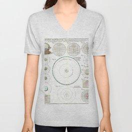 Homann Heirs Solar System Astronomical Chart Unisex V-Neck