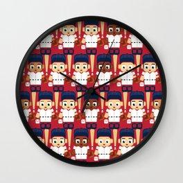 Baseball Red, White and Blue - Super cute sports stars Wall Clock