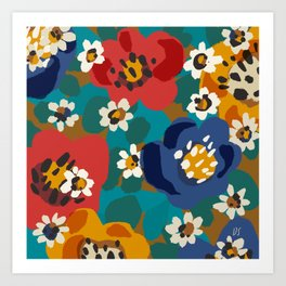 Bouncy Florals No. 1 Art Print