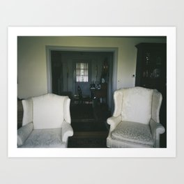 Husband and Wife Chairs  Art Print