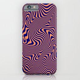 Blue Orange Swirls iPhone Case