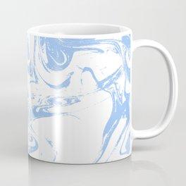 Marbled spilled ink suminagashi japanese marble blue pastel pattern swirl ocean topography Coffee Mug