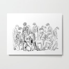 Seventeen Getting Closer Group Sketch Metal Print