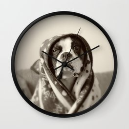 Obi Wan (Buck the world's most lovable boxer dog) Wall Clock