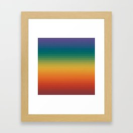 Colorful Stripes Abstract Rainbow Pattern Trendy Colors Framed Art Print