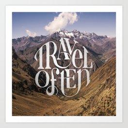 Travel to the Mountains Art Print