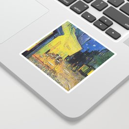 Café Terrace at Night by Vincent van Gogh Sticker