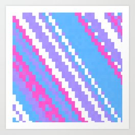 pink blue purple and white Art Print