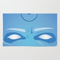 watchmen Area & Throw Rugs featuring Vector Dr Manhattan by LoweakGraph