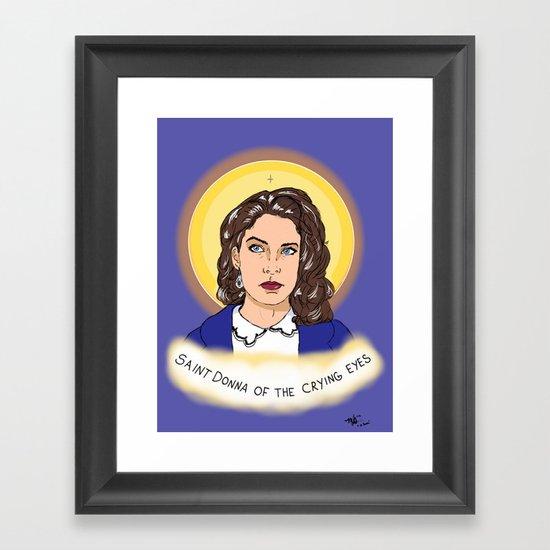 St. Donna Framed Art Print