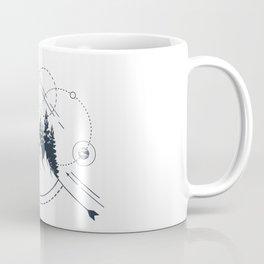 Modern Geometric Nature Mountains Adventure Circles Coffee Mug