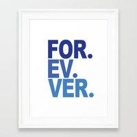 dodgers Framed Art Prints featuring For. Ev. Ver. by Weston Miller