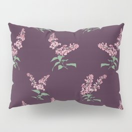 Lilac Flowers Spring Pattern Pillow Sham