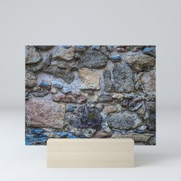 Cliff Stones Wall Texture Mini Art Print