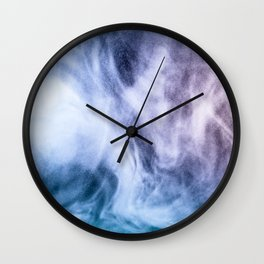 Blue and purple abstract heavenly clouds Wall Clock
