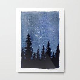 Starry Pines Metal Print