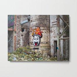 mushroom graffiti Metal Print