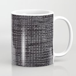 Black fibrous cloth texture abstract Coffee Mug