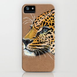 Leopard glance iPhone Case