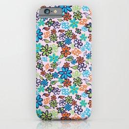 Feeling Groovy Flowers iPhone Case