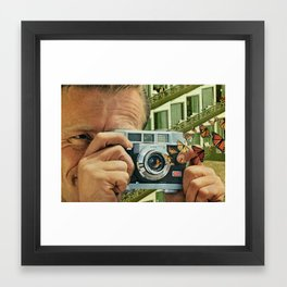 in reverse the shutter opens Framed Art Print