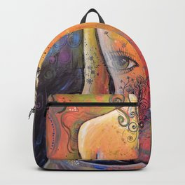 Abstract Art Original Nude Woman Girl Painting ... The Company You Keep Backpack