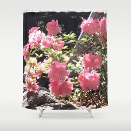 Fenced Flowers Shower Curtain