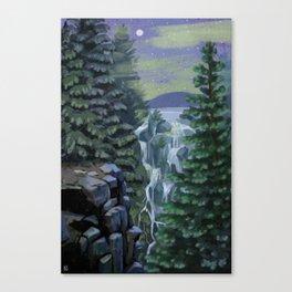 Mount Rainier National Park (Night) Canvas Print