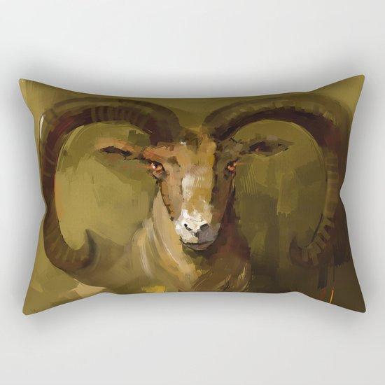 Blue Sheep Rectangular Pillow