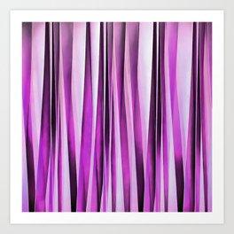 Lavender, Iris and Grape Stripy Pattern Art Print