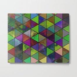 Textured Triangulation - Abstract, geometric triangles Metal Print