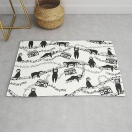 Eighties Music Sloth Pattern Rug