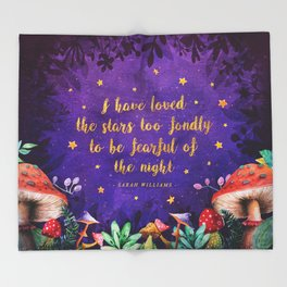 I have loved the stars Throw Blanket