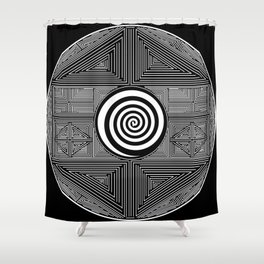 The Center of the World Shower Curtain