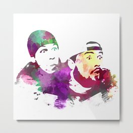 Jay and Silent Bob (Clerks) Metal Print