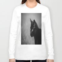 black cat Long Sleeve T-shirts featuring Black Cat by KimberosePhotography