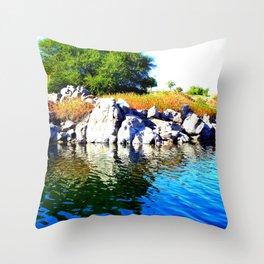 Beautiful Blue Nile River Throw Pillow