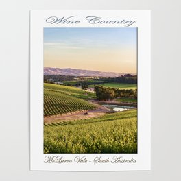 Wine County - McLaren Vale, South Australia Poster