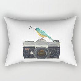 Watch the birdie Rectangular Pillow