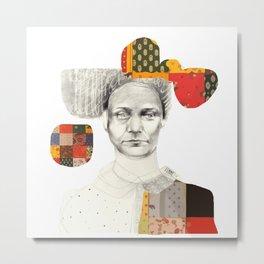 Le patchwork femme Metal Print