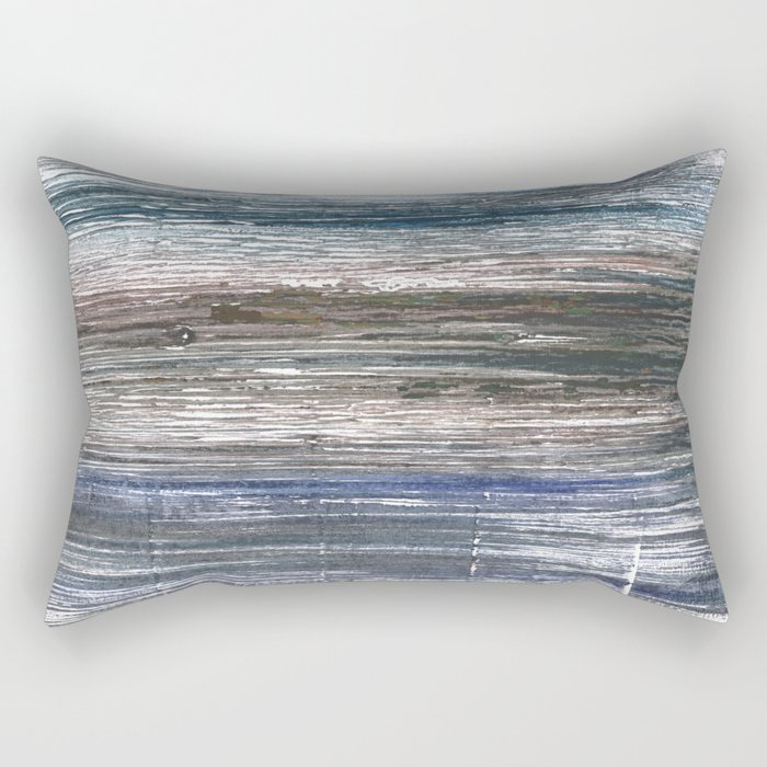 Black Coral abstract watercolor Rectangular Pillow