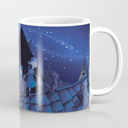 the night on the roofs of Paris Coffee Mug
