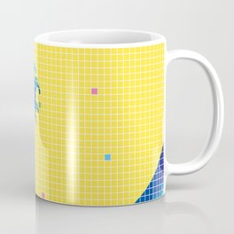 Great Wave in checked pattern_C Coffee Mug
