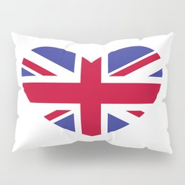 Union Jack Heart Pillow Sham