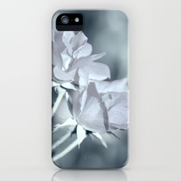 Twin White Roses iPhone Case