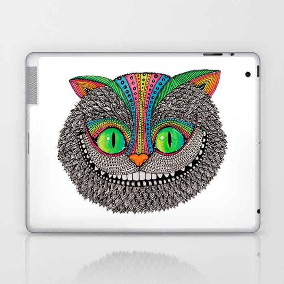 Alice´s cheshire cat by Luna Portnoi Laptop & iPad Skin